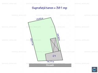 Teren intravilan de vanzare, zona Central, 381 mp
