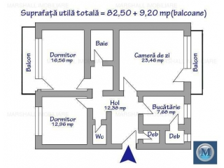 Apartament 3 camere de vanzare, zona Ultracentral, 91.7 mp