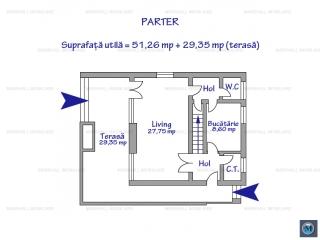 Vila cu 4 camere de vanzare, zona Nord, 153.11 mp