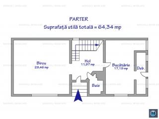 Spatiu  birouri de inchiriat, zona Cantacuzino, 181.38 mp