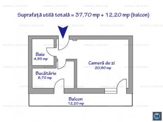 Garsoniera de vanzare, zona Albert, 37.70 mp