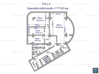 Spatiu  birouri de inchiriat, zona Ultracentral, 177.25 mp