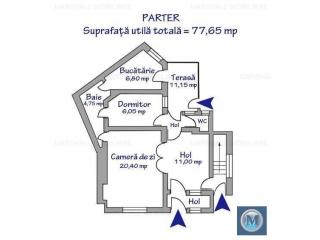 Vila cu 5 camere de vanzare, zona Central, 135.37 mp