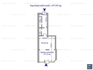 Spatiu comercial de inchiriat, zona B-dul Bucuresti, 87.43 mp