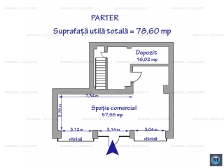 Spatiu comercial de inchiriat, zona Ultracentral, 168.59 mp