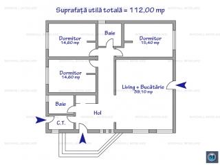 Casa cu 4 camere de vanzare in Valenii de Munte, zona Vest, 112 mp