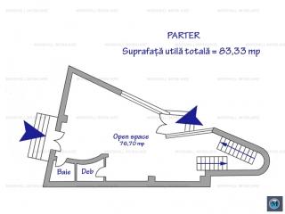 Spatiu  birouri de inchiriat, zona Albert, 394.56 mp