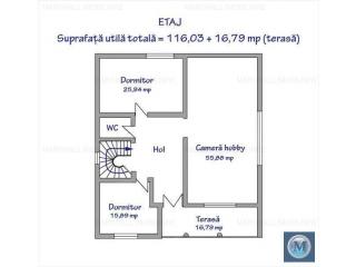 Vila cu 5 camere de vanzare in Boldesti-Scaeni, zona Central, 180.51 mp