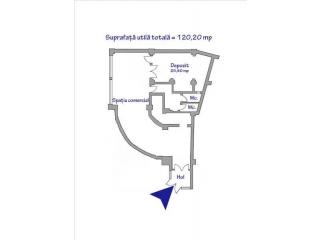 Spatiu comercial de inchiriat, zona P-ta Mihai Viteazu, 120.20 mp