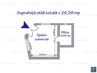 Spatiu comercial de inchiriat, zona Central, 26.38 mp