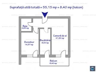 Apartament 2 camere de vanzare, zona Albert, 63.55 mp