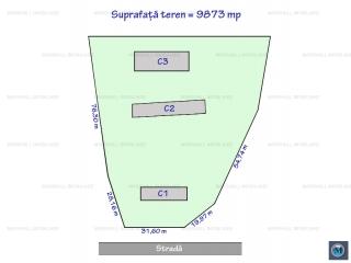 Teren intravilan de vanzare, zona Nord, 9873 mp