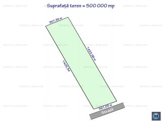 Teren extravilan de vanzare, zona Exterior Vest, 500000 mp