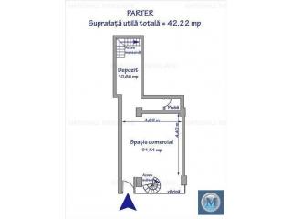 Spatiu comercial de inchiriat, zona Ultracentral, 125.45 mp