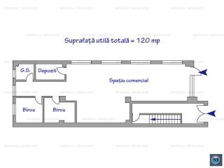 Spatiu comercial de vanzare in Bucuresti, zona Bucurestii Noi, 120 mp