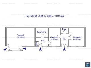 Casa cu 4 camere de vanzare, zona P-ta Mihai Viteazu, 100 mp