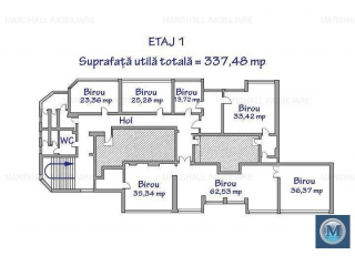 Spatiu  birouri de inchiriat, zona Ultracentral, 337.48 mp