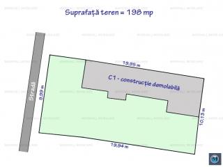 Teren intravilan de vanzare, zona Gheorghe Doja, 198 mp