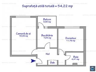 Apartament 2 camere de vanzare, zona Enachita Vacarescu, 54.22 mp