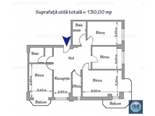 Spatiu  birouri de vanzare, zona Ultracentral, 130 mp