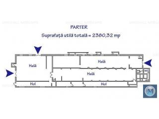 Spatiu industrial de vanzare in Filipestii de Padure, 2466 mp