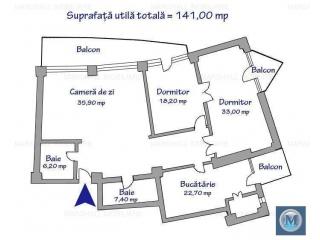 Apartament 4 camere de vanzare, zona Gheorghe Doja, 141 mp
