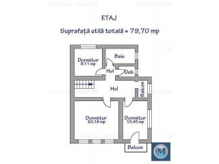 Vila cu 4 camere de vanzare, zona Ultracentral, 157.8 mp