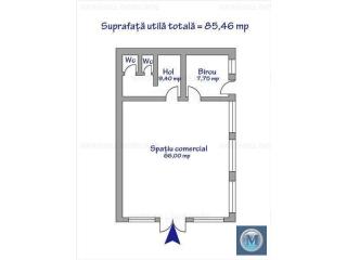 Spatiu comercial de vanzare, zona Cantacuzino, 85.46 mp