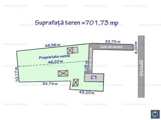Teren intravilan de vanzare, zona Rudului, 701.73 mp