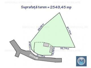 Teren intravilan de vanzare in Plopu, 2549.45 mp
