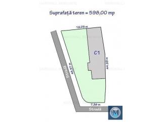 Teren intravilan de vanzare, zona Central, 598 mp