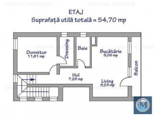 Vila cu 4 camere de vanzare in Baicoi, zona Central, 113.03 mp
