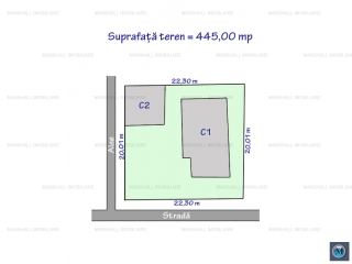 Teren intravilan de vanzare, zona Ultracentral, 445 mp