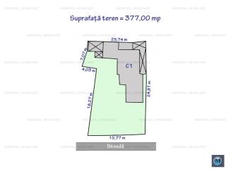 Teren intravilan de vanzare, zona Malu Rosu, 377 mp