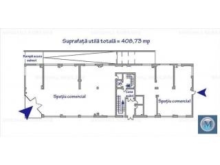 Spatiu comercial de inchiriat, zona Enachita Vacarescu, 408.73 mp