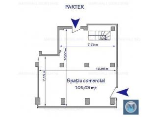 Spatiu comercial de inchiriat, zona Ultracentral, 178.59 mp