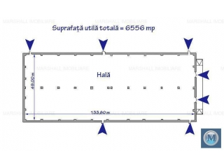 Spatiu industrial de inchiriat, zona Exterior Vest, 6556 mp
