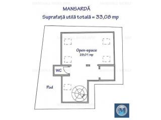 Spatiu  birouri de inchiriat, zona Central, 86.6 mp