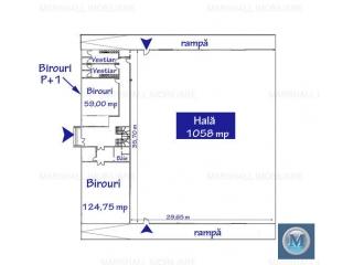 Spatiu industrial de inchiriat, zona Exterior Vest, 1058 mp