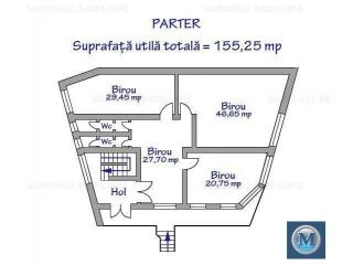 Spatiu  birouri de vanzare, zona Gheorghe Doja, 155.25 mp