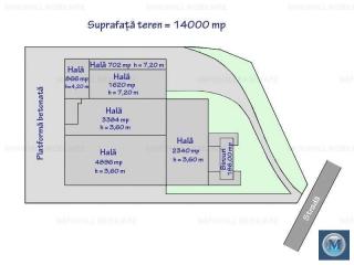 Spatiu industrial de inchiriat, zona Nord-Vest, 702 mp