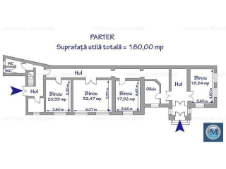 Spatiu  birouri de inchiriat, zona Ultracentral, 373.83 mp