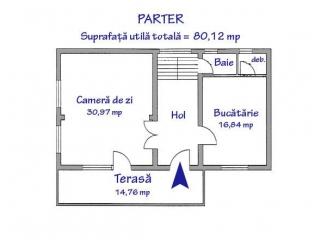 Vila cu 4 camere de vanzare in Barcanesti, 221 mp