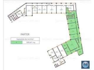 Spatiu  birouri de inchiriat, zona Cantacuzino, 741.1 mp