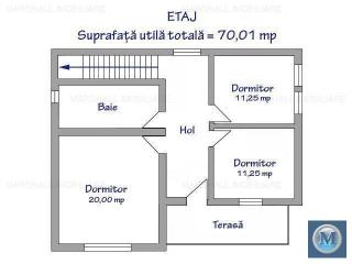 Vila cu 4 camere de vanzare, zona Republicii, 136.51 mp