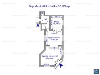 Spatiu comercial de inchiriat, zona Ultracentral, 85 mp