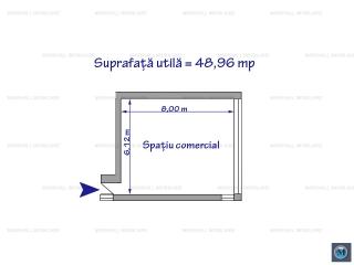 Spatiu comercial de inchiriat, zona Gheorghe Doja, 49 mp
