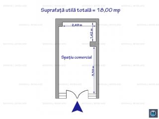Spatiu comercial de inchiriat, zona Republicii, 18 mp