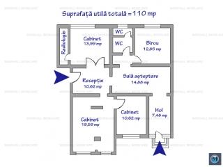 Spatiu  birouri de inchiriat, zona Gheorghe Doja, 110 mp