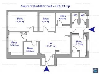 Spatiu  birouri de inchiriat, zona Democratiei, 90.09 mp